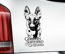 GERMAN SHEPHERD Sticker,  Alsatian GSD Dog Car Stickers Window Decal - V04B BLK