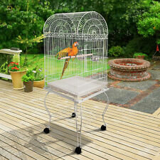 60-inch Large Bird Parrot Cage Rolling Cockatiel Finch Flight Cage