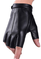 Women's Pure Leather Half Finger Gloves   Driving Biking Cycling Performance