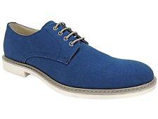 Alfani Men's Richie Canvas Oxford Shoes Navy Blue Size 11.5 M