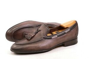 Santoni Loafer Made in Italy shoes mens UK7.5 / US8.5 / EU41.5 tassel