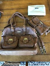 Timi & Leslie Diaper Bag Brown. With Changing Pad, Clutch, Stroller Straps