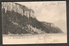 1905 post card The Palisades Hudson River NY to Edith Millard Belleville Ontario