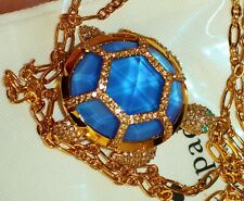 Kate Spade Jeweled Paradise Found Turtle Locket Necklace in Blue