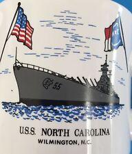 USS North Carolina Battleship 8 Oz Tea Cup Diner Coffee Mug Wilmington NC Flag