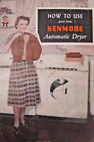 Kenmore Sears Roebuck 1952 Automatic Dryer Manual Ephemera Advertising Booklet