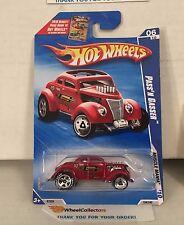 Pass'n Gasser #104 * Red w/ Goodyear TIRES * 2010 Hot Wheels * D16