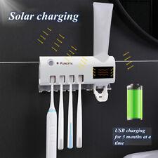 Porta spazzolino sterilizzatore Dispenser automatico Dentifricio pasta a luce UV