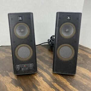 Logitech Model X-140 Upright Computer Gaming Music Movie Speakers Fast Ship
