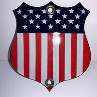Vintage Enamel Flag Emblem