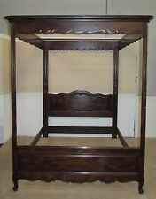 HENREDON FOUR CENTURIES OAK QUEEN SIZE CANOPY BED, POSTER, FOUR POST BED