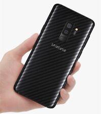 Pellicola TRASPARENTE posteriore 3D CARBON per Samsung Galaxy S9 Plus back retro