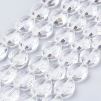 20pcs/Strd Clear Crystal Glass Beads Faceted Oval Big Loose Beads Craft 20x16mm