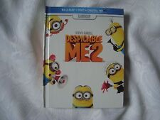 DESPICABLE ME 2 three disc LIMITED DIGIBOOK Blu-Ray DVD set Steve Carell