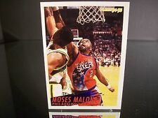Rare Moses Malone Fleer 1994 Card #170 Philadelphia 76ers NBA Basketball