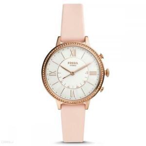 Hybrid Smartwatch Donna FOSSIL JACQUELINE FTW5059 Silicone Rosa Bianco Rosè