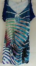 Women's Striped Scoop Neck Stretch, Bodycon Clubwear Dresses