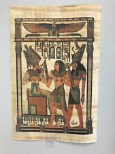 """Egyptian Kings Papyrus Original Hand Painted Made in Egypt 11.5'' X 8"""" FREE SHIP"""