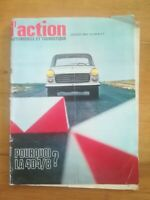 ACTION AUTOMOBILE N°89 1968 Peugeot 404 Ford Escort Lancia Fulvia DS 21
