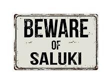 488Vs Beware Of Saluki 8� x 12� Vintage Aluminum Retro Metal Sign