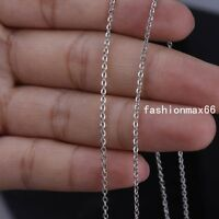 Wholesale In Bulk 1/5/10Meter Stainless Steel 1mm/2mm Rolo Link Chain DIY Chain