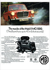 MG MG 1300 MK2 MKII RETRO POSTER A3 PRINT FROM CLASSIC 60'S ADVERT