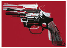 Guns 1981-82 by Andy Warhol Art Print Pop Poster - Red Gun Pistol Revolver 11x14