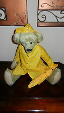 Ganz Cottage Collectibles Teddy Bear ~ Spencer ~ Sue Coe with Rain Gear & Tags