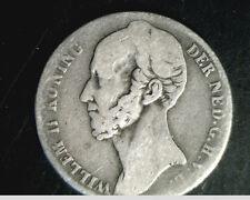 1848  Netherlands, 1 Gulden, Medium to High Grade, .3038 oz Silver  (Net-9)