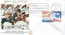 FRANCE FDC - 574 1486 3 BATAILLE D'HASTINGS - Falaise flamme 4 Juin 1966 - LUXE