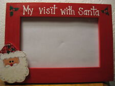 MY VISIT WITH SANTA - Christmas photo picture frame