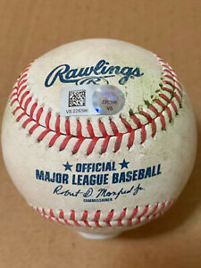 Dominic Smith MLB Authenticated Baseball Game Used Double - Mets vs Nationals