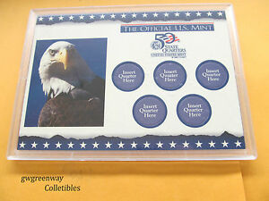 LOT 1 * 5 x7 US MINT STATE QUARTER  FROSTY CASE 5 HOLE* FREE SHIPPING #6697