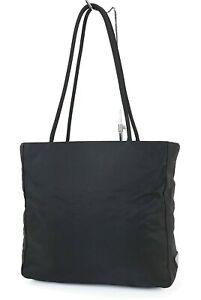 Authentic PRADA Black Nylon Tote Hand Bag Purse #40058