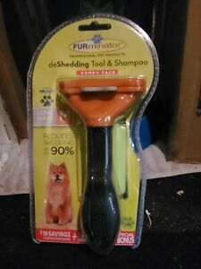 genuine FURminator deShedding Tool & Shampoo Combo Pack Long Hair M 21-50 lbs