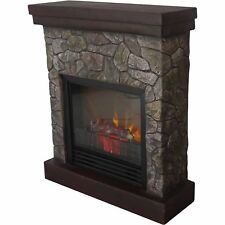 """Electric Fireplace Heat 26"""" Polyfiber Indoor Fireplaces Realistic Flame Effect"""
