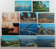 28 VTG Florida Postcards, Fort Myers, Clearwater, Naples, Cape Canaveral, Unused