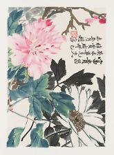 Qi Baishi (China, 1864-1957), Chrysanthemen, 1953, Farbholzschnitt