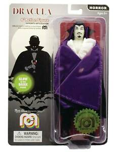 DRACULA  8-INCH ACTION FIGURE 14 POINT ARTICULATION  GID PURPLE CAPE MEGO CORP