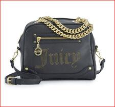 Juicy Couture Designer Crossbody LOGO SATCHEL - Faux Leather Purse BLACK 🌟NEW🌟
