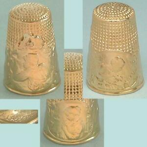 Rare Antique 18 Kt Gold Battle of the Somme Thimble * French * Circa 1916