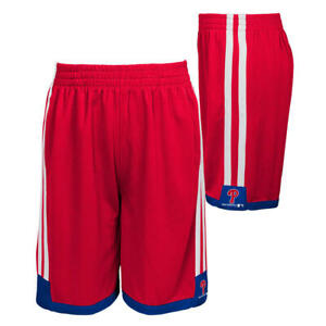 Philadelphia Phillies MLB Boys' Striped Logo Shorts, Large (14/16) - NWT