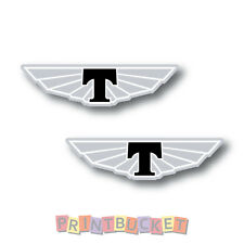 Tickford black wing sticker 75mm 2 pack quality water & fade proof vinyl badge