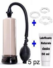 pompa per allungare il pene contro eiaculazione precoce allungamento + anello