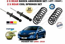 FOR PEUGEOT 407 2004-2010 NEW 2X REAR SHOCK ABSORBER SET + 2X COIL SPRINGS SET