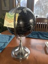 Objet Made In India World Globe On Stand Black