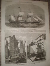SS City of Limerick & Frenchy defences at Rome Italy 1867 old prints