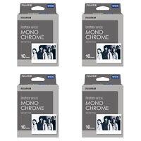4 Packs 40 Instant Photos Monochrome FujiFilm Instax Wide Film Polaroid Camera