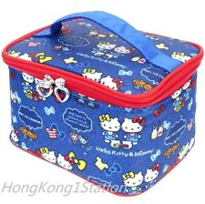 Hello Kitty Makeup Bag Train Case Travel Organizer Toiletry Holder Storage Pouch