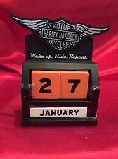2015 Hallmark Harley Davidson Motorcycle Perpetual Block Desk Calendar - DAV1412